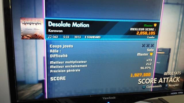 Desolate Motion - Karawan - Master Score Attack