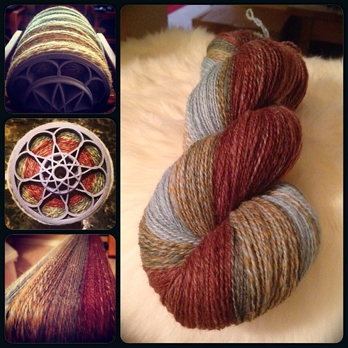 Summary shot of today's spinning. Next up is a combo 3-ply...