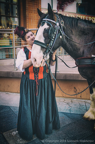 The Queen and her Knight | 16th Street Mall, Denver, CO | June, 2014  by Somnath Mukherjee Photoghaphy