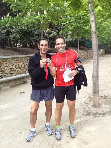 Al finalizar el 10K del R&R Madrid 2012