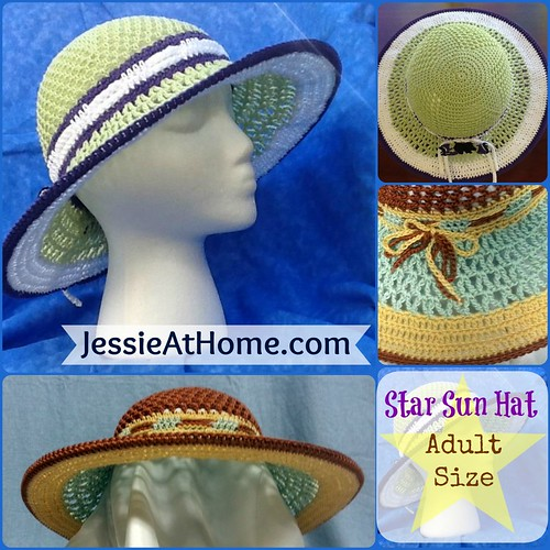 9bb1b6eafc2 Adult-Star-Sun-Hat. Star Sun Hat Crochet Pattern