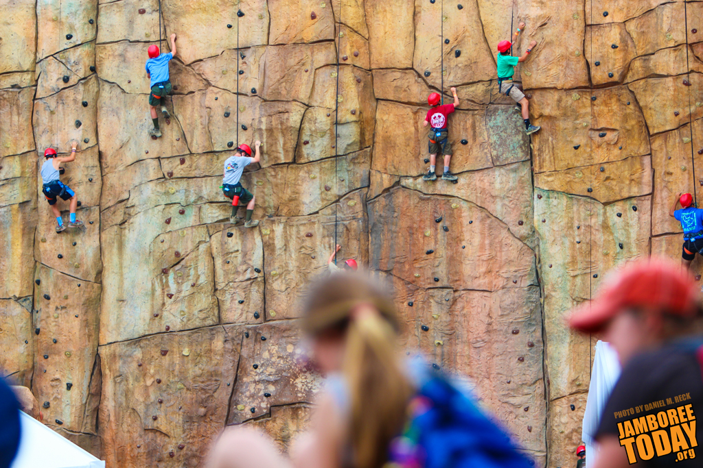 Summit Center Invites Visitors to Climb Rocks