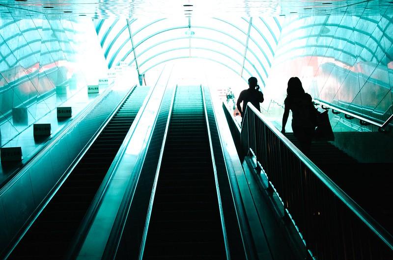 2/365: Beijing Subway Stairway