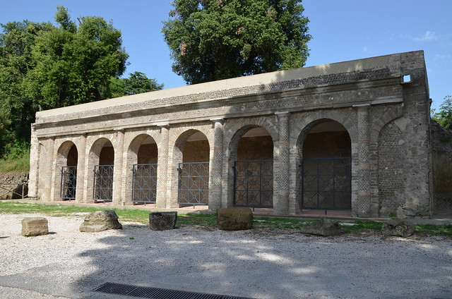 The portico of the Sanctuary of Juno Sospita at Lanuvium, Lanuvio, Italy