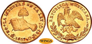 Mexico 4 Escudos 1823-1863
