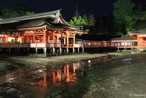 Itsukushima Shrine at night