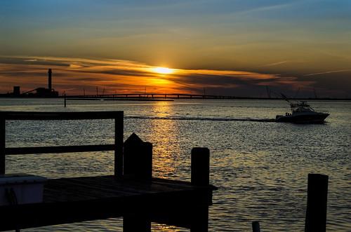 ocean sunset sea nature bay boat newjersey nikon shore 14thstreet oceancity atlanticocean ocnj