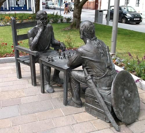 Viking chess players