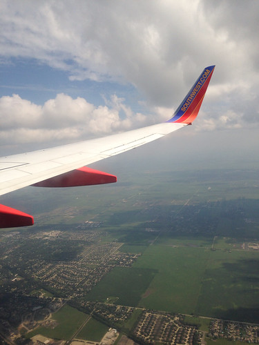 Southwest Airlines over Chicago