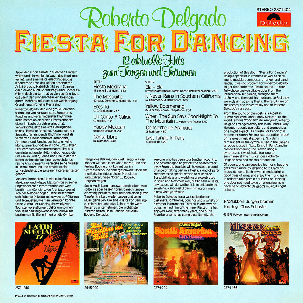 Fiesta For Dancing Lp Cover Art