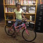Keke with her Earn-A-Bike