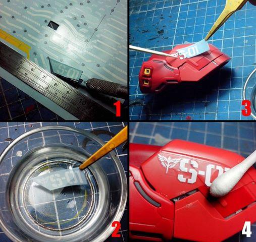 Cách sử dụng Decal nước khi chơi Gundam-Gunpla