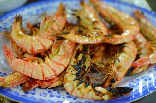 grilled Danang prawns