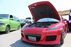 automobile(1.0), automotive exterior(1.0), wheel(1.0), vehicle(1.0), automotive design(1.0), rim(1.0), bumper(1.0), land vehicle(1.0), luxury vehicle(1.0), mazda rx-8(1.0), sports car(1.0),