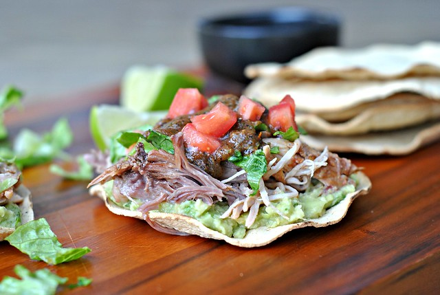 Avocado and Carnitas Tostadas 1