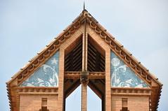 Canet de Mar. Sanctuary of Mare de Déu de la Misericòrdia (Virgin of Mercy). Hotel / restaurant. Josep Puig i Cadafalch architect (1914)