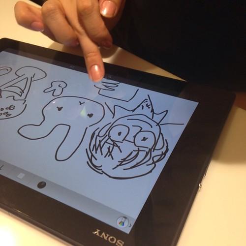 Xperia Z2 Tablet、絵を描いて遊べる。もちろん、色をつけることも可能。 #Xperiaアンバサダー