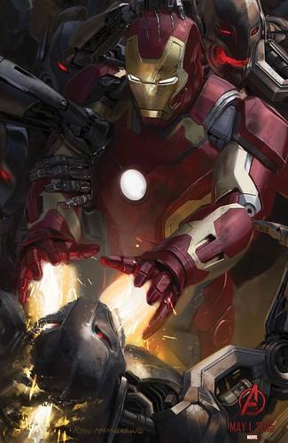 140728(2) - 2015年電影《Avengers: Age of Ultron》(復仇者聯盟2:奧創紀元)9大超級英雄合體海報出爐、台灣4/22隆重上映! 1