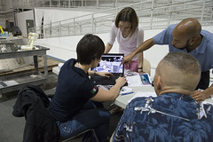 Training of ESA astronaut Samantha Cristoforetti at NASA JSC facility