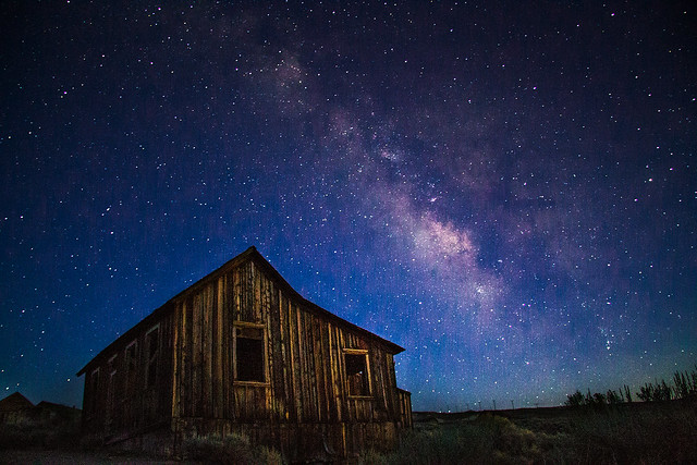 Milky Way over Bodie National Park