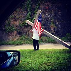Patriotic Jesus in Homewood