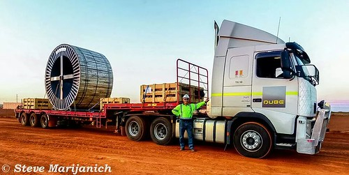 Barry with his Load for the Roy Hill Iron Ore. Boodarie Road Lay Down.