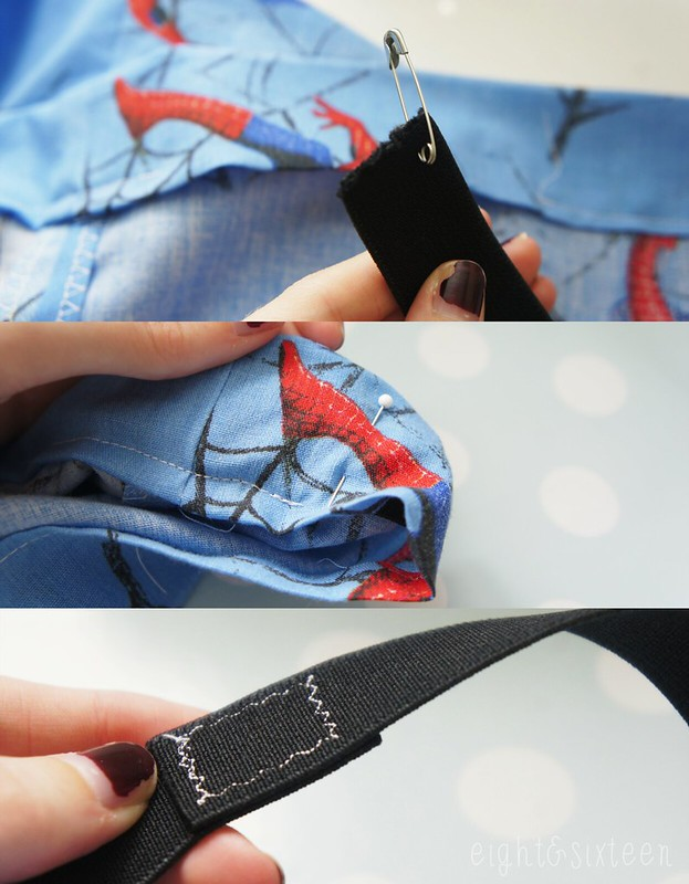 diy simple upcycled skirt sewing spider-man