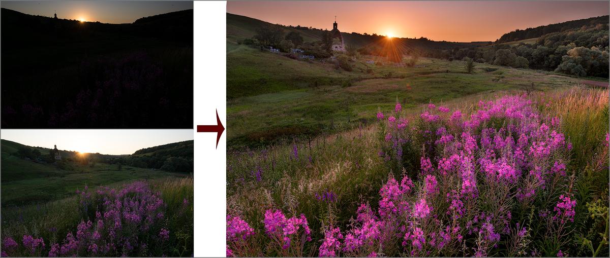 Обработка рассветной фотографии: liseykina: http://liseykina.livejournal.com/154749.html