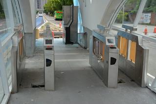 施工中的BRT榮總・東海大學第二出入口