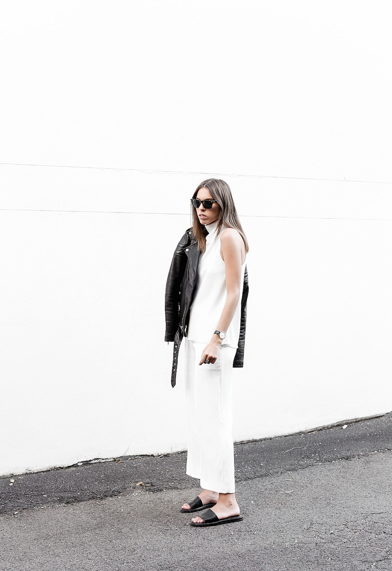 modern-legacy-BLK-DNM-leather-jacket-8-white-culottes-street-style-blog-slide-sandals-Camilla-and-Marc-Assent-top-Alexander-Wang-sling-bag-black (1 of 1)-2