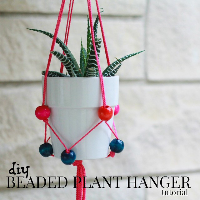 how to make a beaded plant hanger tutorial via Kristina J blog