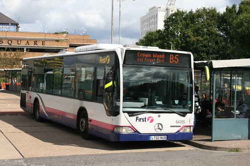 First Beeline 64005 on Route B5, Bracknell Bus Station