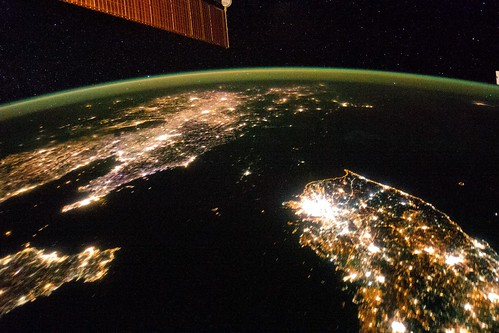 The borders of North and South Korea