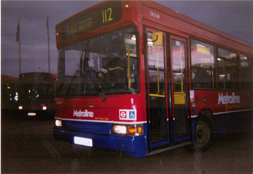 Metroline DLD68 on Route 112, Brent Cross Bus Station, 2003