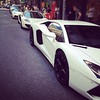 White Lamborghini. White McLaren. White Ferrari. All in a row. #hongkong