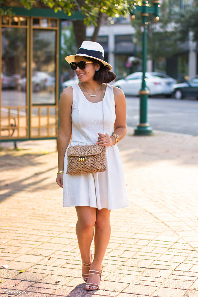 Little white dress, panama hat, straw clutch-1.jpg