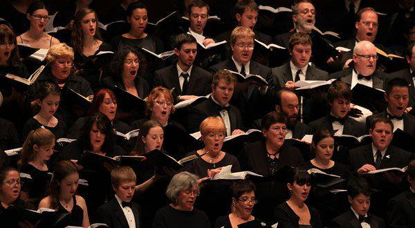 Singing Handel's Messiah at Lincoln Center's Avery Fisher Hall. This photo was atop the New York Times' concert review