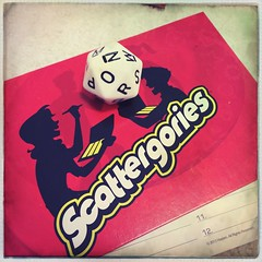 game of the day - scattergories!