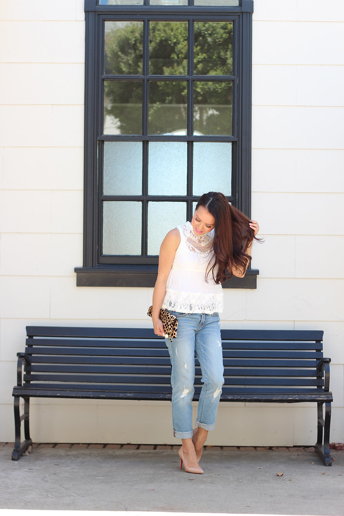Distressed Denim and Lace-2