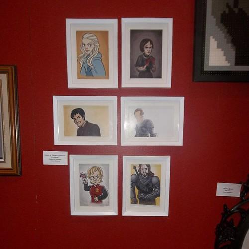 Game of Thrones character postcards, Vanessa Stefaniuk #toronto #torontophotos #cne #cneblogto #postcards #grofthr#