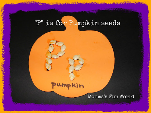 """P"" is for Pumpkin Seeds (Photo from Momma's Fun World)"