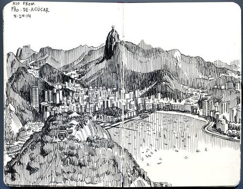 view of Corcovado and Botafogo from Sugarloaf, Rio de Janeiro