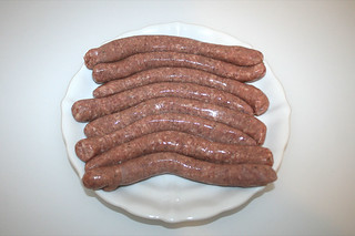 04 - Zutat Bratwürste / Ingredient bratwurst