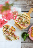 Aspargarus-rhubarb-goat cheese pizza for WIENERIN magazin
