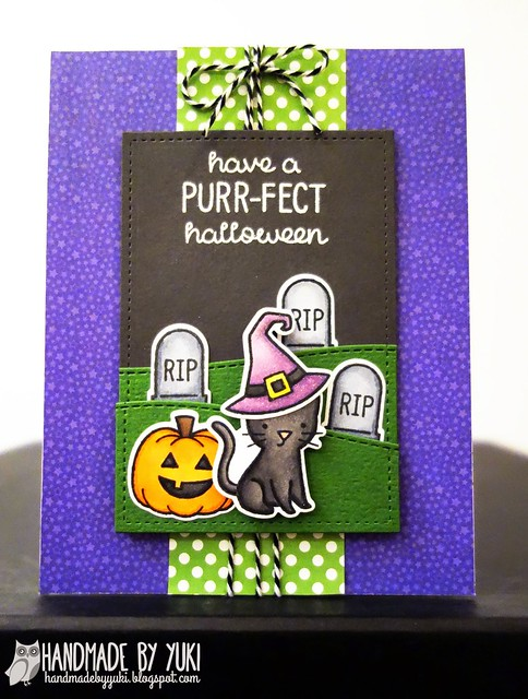 """Have a Purr-fect Halloween"" Card featuring Lawn Fawn"