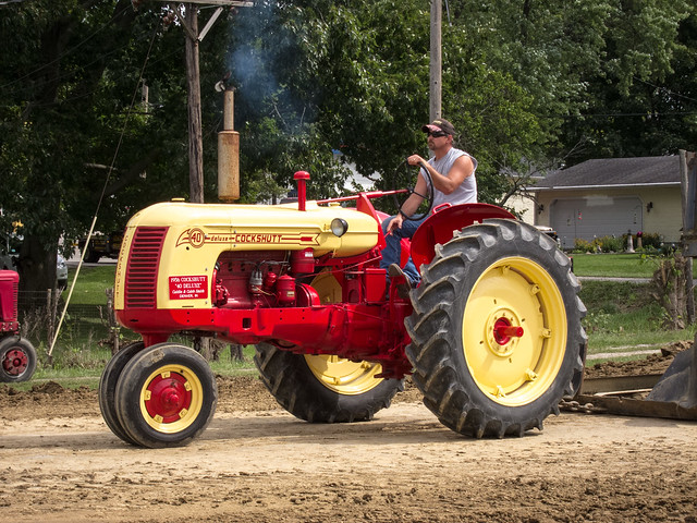 At the tractor pull