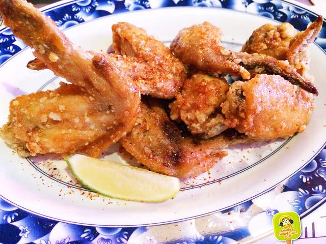 seoul garden - fish sauce & garlic wings