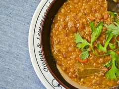 broken wheat and lentil soup