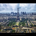 The Iconic Eiffel Tower & The Densely Beautiful City Of Paris, France :: HDR by :: Artie | Photography :: Cya in Sept!