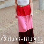 how to make a diy colorblock maxi dress tutorial via Kristina J blog